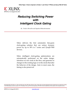 Reducing Switching Power with Intelligent Clock Gating