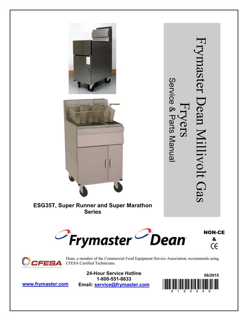 frymaster dean millivolt gas fryers