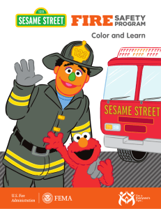 Fire Safety Color and Learn Book