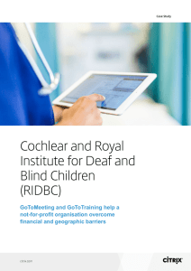 Cochlear and Royal Institute for Deaf and Blind Children (RIDBC)