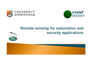 Remote Sensing for Automotive and Security Applications