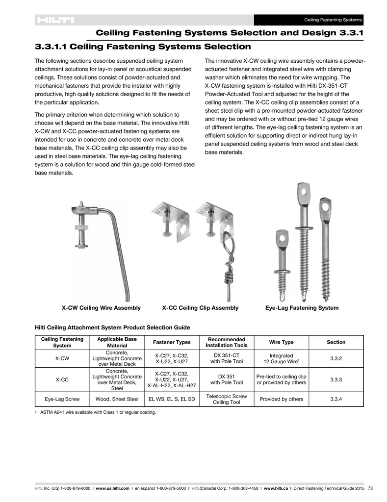 PDF Product Technical Guide for Ceiling Fastening Systems