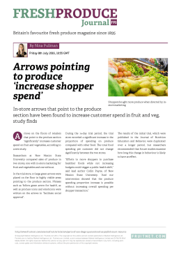 Arrows pointing to produce `increase shopper spend`