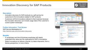 Innovation Discovery for SAP Products