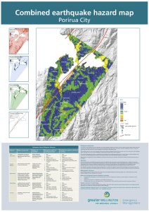 Combined earthquake hazard map