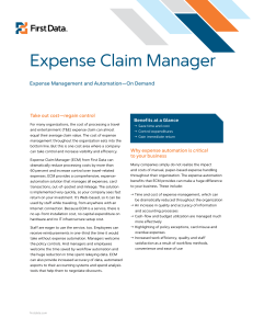 Expense Claim Manager