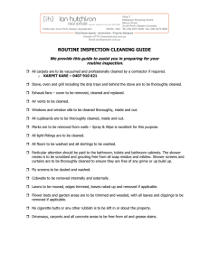 ROUTINE INSPECTION CLEANING GUIDE