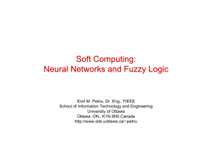 Soft Computing: Neural Networks and Fuzzy Logic