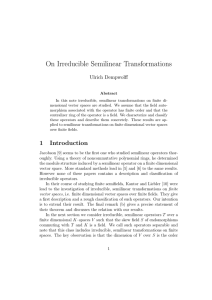 On Irreducible Semilinear Transformations