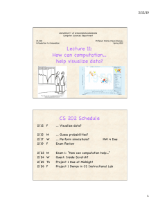 Lecture 11: How can computation… help visualize data? CS 202
