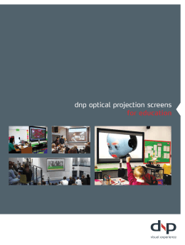 dnp optical projection screens for education
