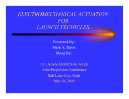 electromechanical actuation for launch vechicles