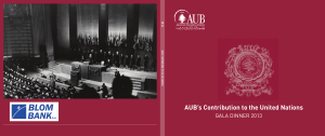 Gala Dinner Brochure of 2013 - American University of Beirut