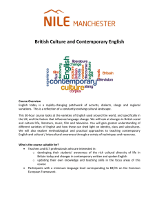British Culture and Contemporary English