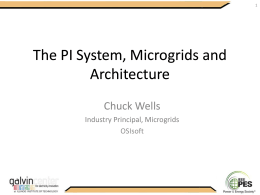 The PI System, The PI System, Microgrids Microgrids and