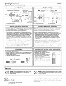 Mounting Instructions Electrical