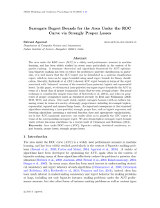 Surrogate Regret Bounds for the Area Under the ROC Curve via