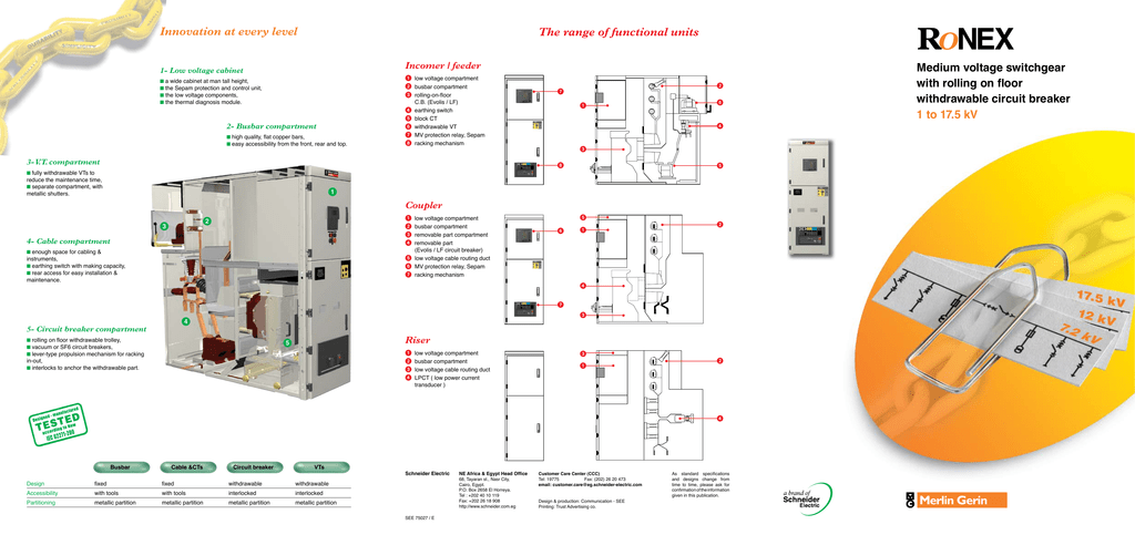 New Brochure Schneider Electric - Protection relays and circuit breakers