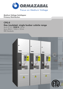CPG.0 Gas insulated, single busbar cubicle range