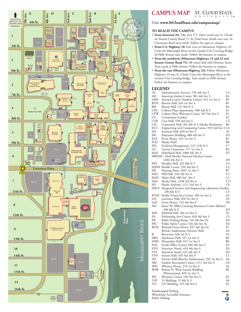 campus map   St. Cloud State University