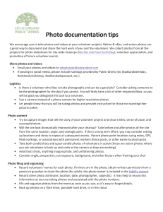 Photo documentation tips