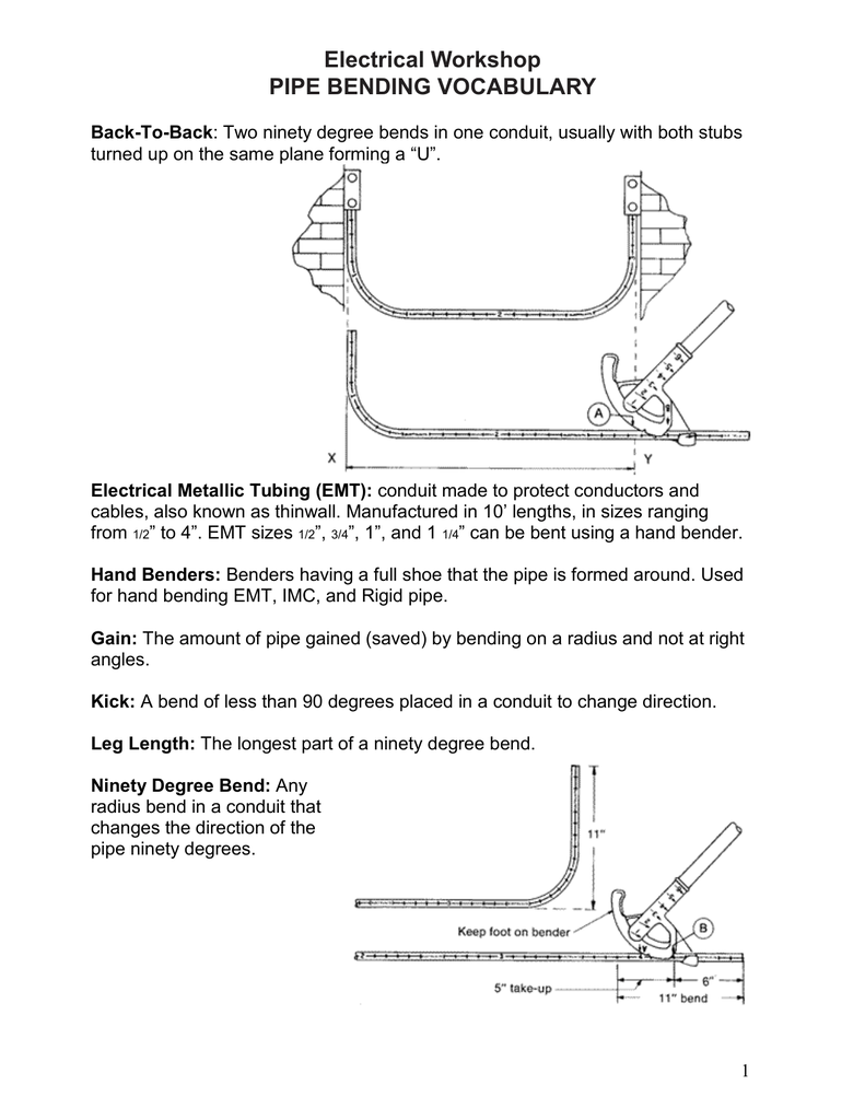 Pipe Bending Packet - Chicago Women In Trades