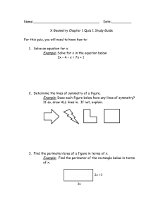 X Geometry Chapter 1 Quiz 1 Study Guide For this quiz, you will need t