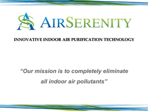"""Our mission is to completely eliminate all indoor air pollutants"""