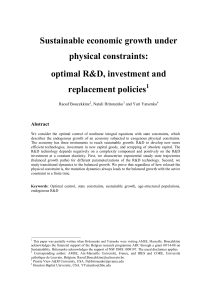 Sustainable economic growth under physical constraints: optimal