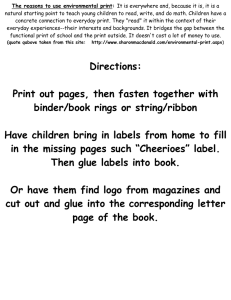 Directions: Print out pages, then fasten together with binder/book