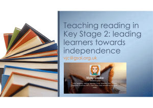 Teaching reading in Key Stage 2: leading learners towards