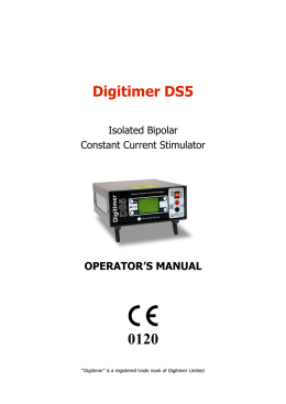 Digitimer DS5 - SMI Adm services
