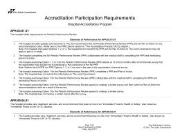 Accreditation Participation Requirements