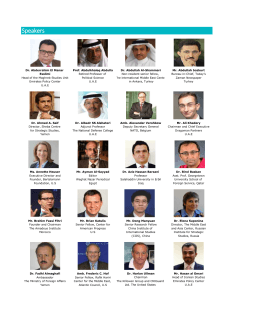 Speakers - Emirates Policy Center