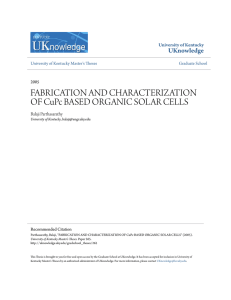 FABRICATION AND CHARACTERIZATION OF CuPc