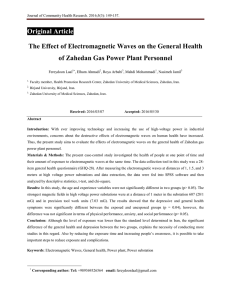 The Effect of Electromagnetic Waves on the General Health of