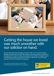 Getting the house we loved was much smoother with our solicitor on