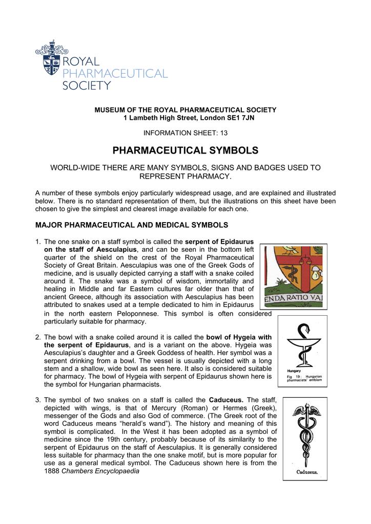 13 Pharmaceutical Symbols Royal Pharmaceutical Society