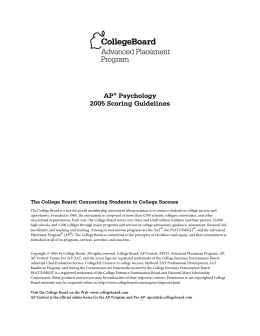 2007 ap calculus ab free response scoring guidelines form b
