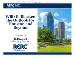 Will Oil Blacken the Outlook for Houston and Beyond