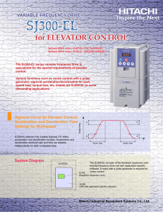for ELEVATOR CONTROL - Hitachi America, Ltd.