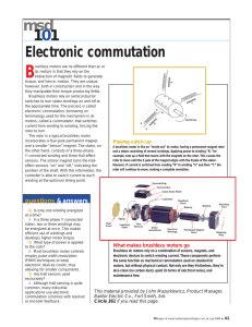 Electronic commutation