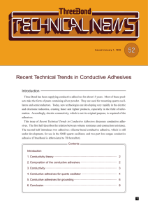 Recent Technical Trends in Conductive Adhesives