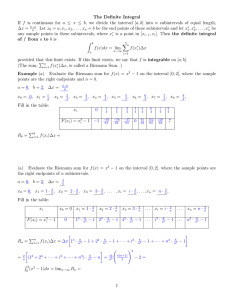 25. The Definite Integral