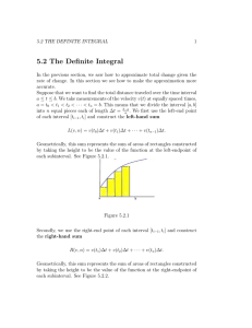 5.2 The Definite Integral