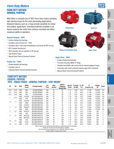 Farm Rated® Motors - Century Electric Motors on