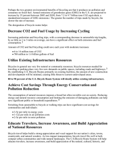 Decrease CO2 and Fuel Usage by Increasing Cycling Utilize