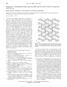 K2Ag3CeTe4: A Semiconducting Tunnel Framework Made from the