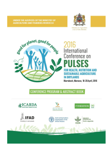 1 International Conference on Pulses, Marrakesh, Morocco, 18