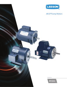 JM/JP Pump Motors